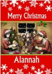Personalised Attack on Titan Christmas Card